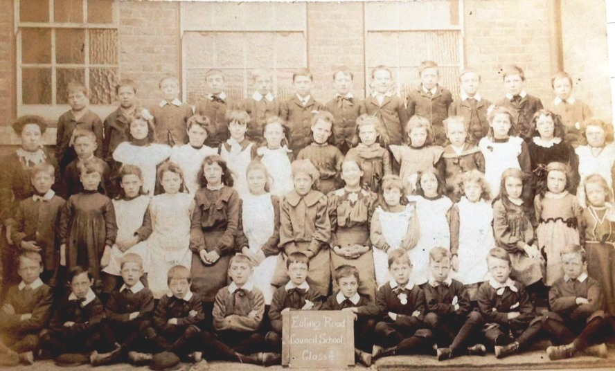 Class photo in the playground