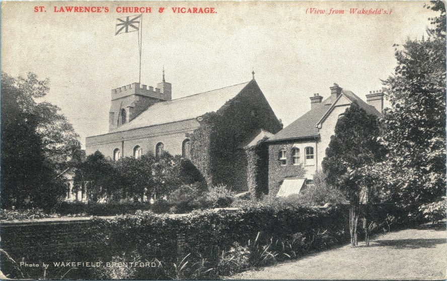 Postcard caption 'View from Wakefield's'