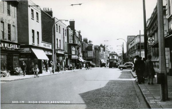 View of High Street towards Half Acre