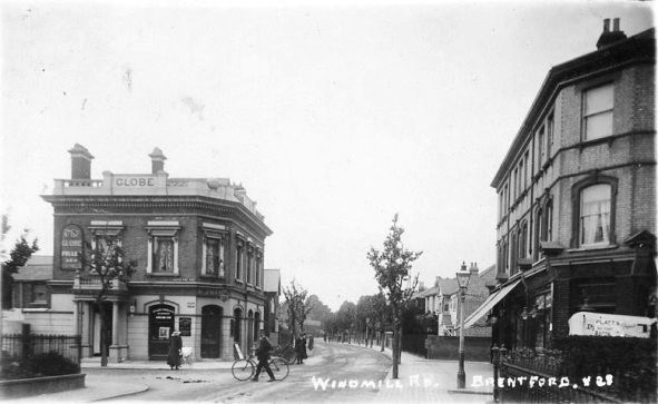 View of Windmill Road and The Globe, Brentford
