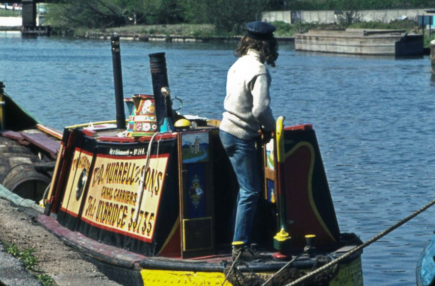 Towcester narrowboat at Brentford Dock