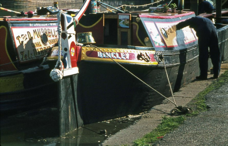 Bingley & Towcester narrowboat at Brentford Dock