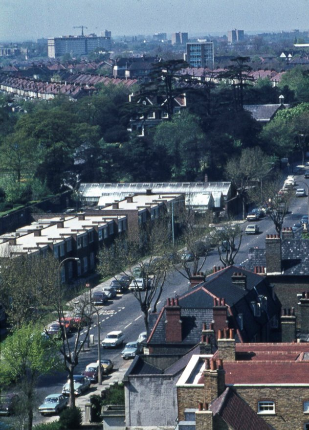 View of Boston Manor Road & House and the M4 viaduct