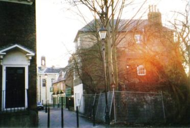Entrance to the back of the Market Place from the Butts, 2002