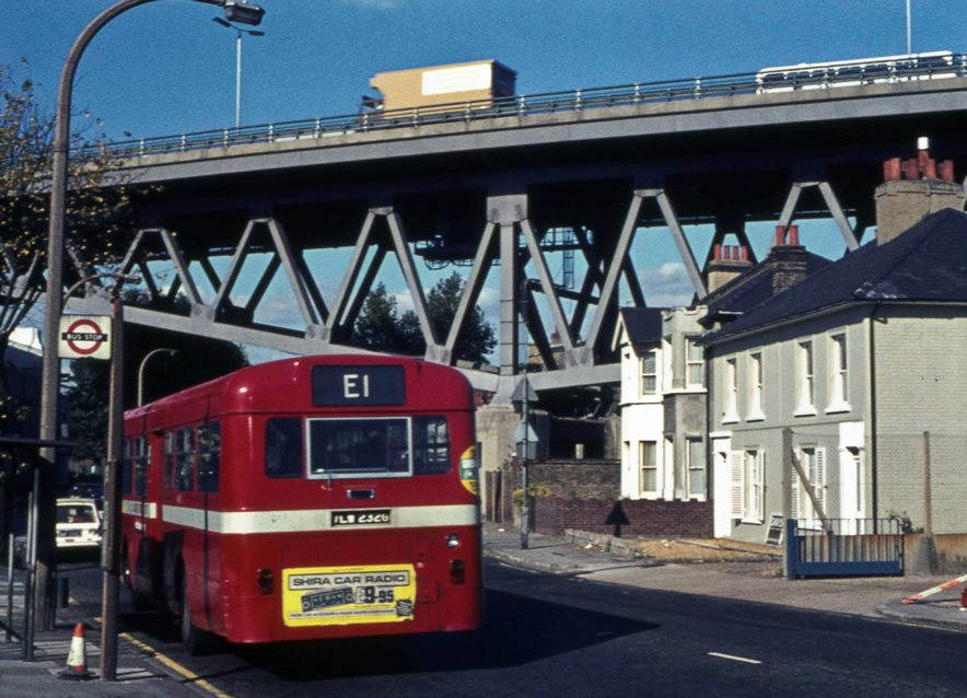 M4 Viaduct, Boston Manor Road and bus