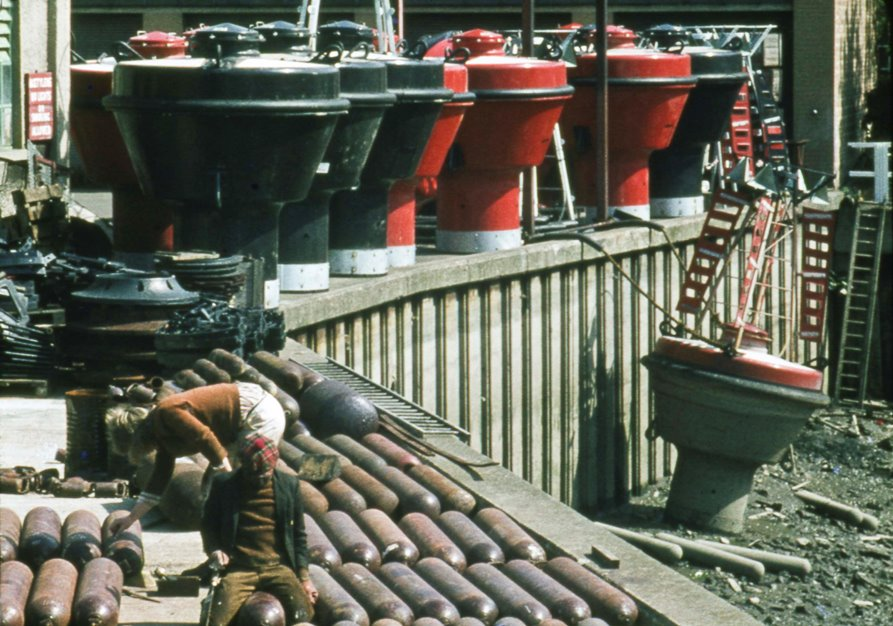 AGA gas cylinders and buoys