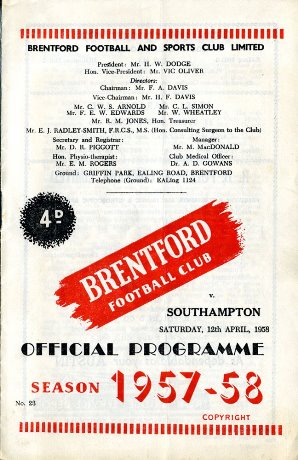 1957/58 front cover