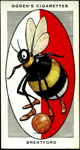 Ogden cigarette card featuring the Brentford Bee