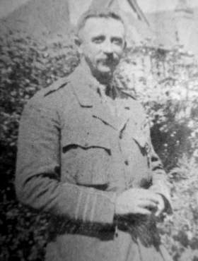 CE Saunders in military uniform