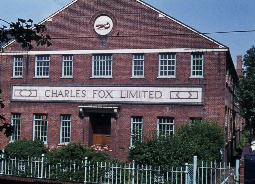Frontage of the Charles Fox factory