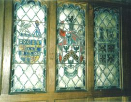 Clitherow Coat of Arms (centre), Squires Pew, Hotham Church (Janet McNamara)