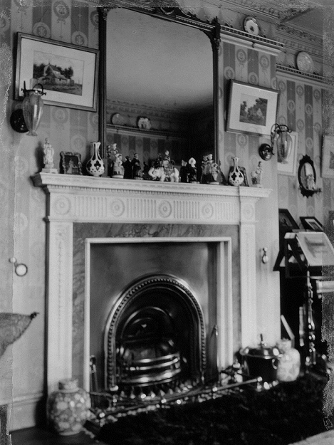 Acton Lodge - fireplace in drawing room