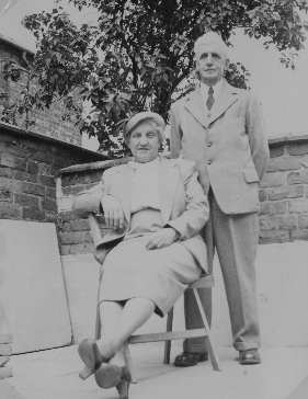 Doris Frances Sansom and her father