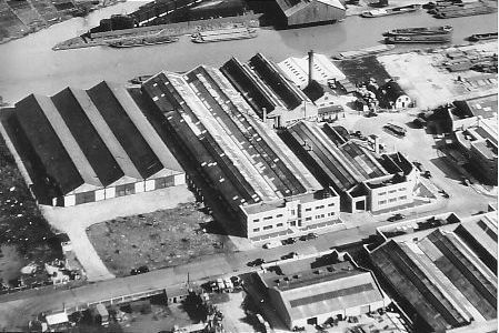 Aerial view of Ranton's works