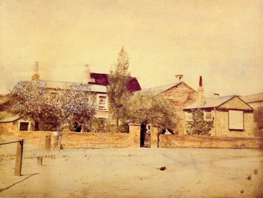 Tinted photo, Boys' National School, The Ham