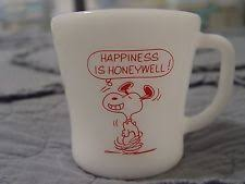 Happiness is Honeywell mug incorporating Snoopy, design by Charles.M.Schultz