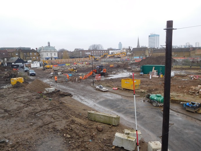 New Brentford development - site cleared